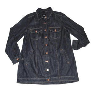 Liverpool Long Shirt Jacket Blue Denim Jean